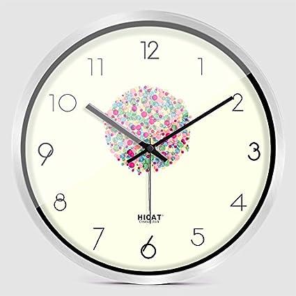 Wall clock WERLM Salón Elegante Reloj de Pared Reloj de Pared Dormitorio Creativo Silencio Precioso salón