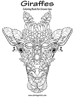 giraffes coloring book for grown ups 1 volume 1