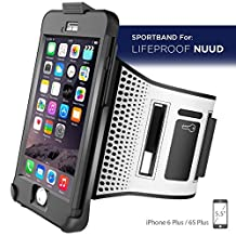"""Workout Armband for LifeProof NUUD Case - iPhone 6 Plus 5.5"""" (case not included) (Encased® Lifetime Warranty)"""