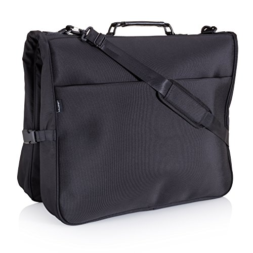 Garment Bag for Travel - 40 inch Hanging Suit Carrier with Multiple Pockets & Built in Hook