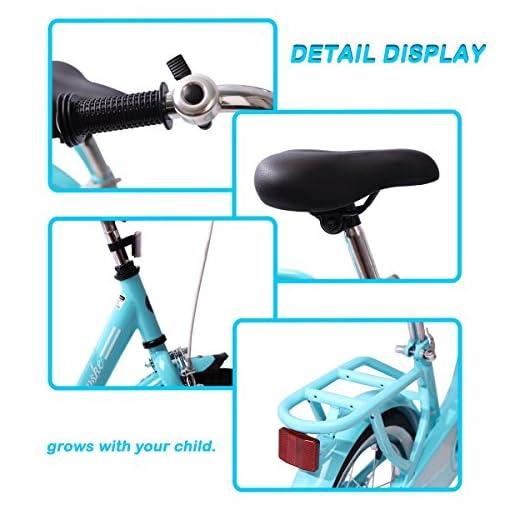 Kid/'s bike Steel Frame Children Bicycle 14-16 Inch with Training Wheel