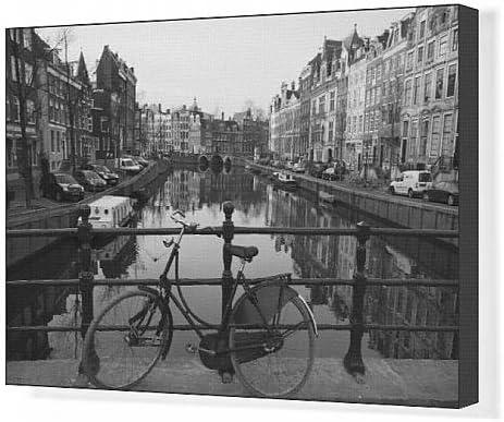 Cuadros en lienzo de blanco y negro de un imge old para bicicleta ...