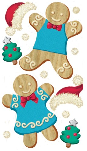 Ek Jolees Boutique Felt - EK Success Brands Jolee's Boutique Dimensional Stickers, Gingerbread Couple