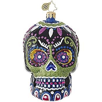 Amazon.com: Christopher Radko Mr. Dead Skeleton Skull with Hat ...