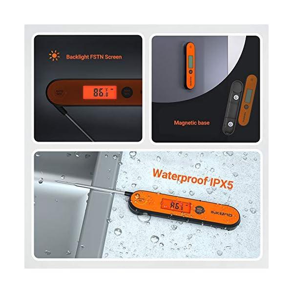 Inkbird IHT-1P Termometro Cucina Digitale Ultrarapido Professionale 3s Termometro a Termocoppia a Lettura Istantanea per… 5
