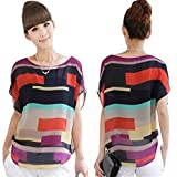 Software : Loose Chiffon Blouse,Hot Sale! AgrinTol Women Casual Summer 1PC Sexy Perspective Loose Chiffon Tops Blouses T-Shirt (XL, Multicolor)