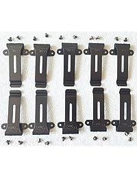 10 X Clip de cinturón compatible para radio Baofeng H777 Bf-666s Bf-777s Bf-888s Bf-999s Kenwood TK-208/308 / TH-22AT / 42AT Radio de dos vías (10 paquetes)