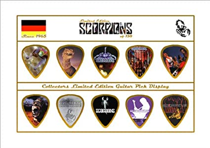 Scorpions Premium Celluloid Púa Para Guitarra Display Limited to ...