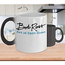Bob Ross Art Of Chill Game (Heat Changing) - Bob Ross Coffee Mug - 11-oz Bob Ross Quote Coffee Mug Cup - Funny Bob Ross Painting Quote Coffee Cup