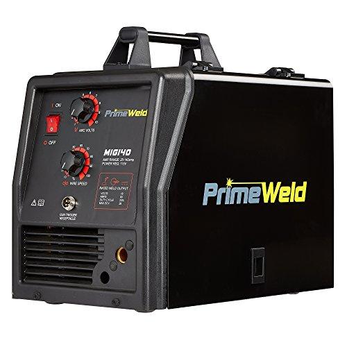 PRIMEWELD MIG140 140 Amp MIG Wire Welder Flux Core Welder and Aluminum Gas Shielded Welding 110V, 3 Year Warranty