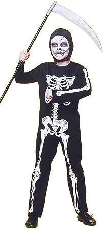 Oferta amazon: Rubies - Disfraz infantil de esqueleto, 5-7 años (Rubie's 12507-M)