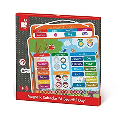 Janod Magnetic Calendar: Toys & Games