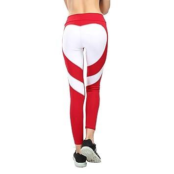 FANGNVREN Pantalones De Yoga,Las Mujeres Único Amor Corazón ...