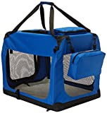 Go Pet Club AC28 Soft Dog Crate, Blue - Small (10 - 25 Lbs)
