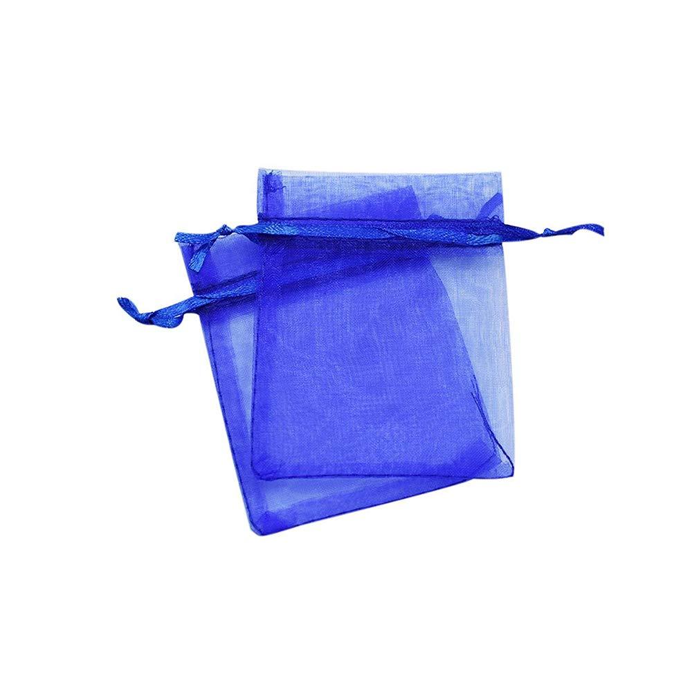 Ogquaton 30 Stü cke Organza Geschenk Taschen Schmuck Kordelzugbeutel Wrap Beutel Hochzeitsfestbevorzugung Sü ß igkeitstaschen (Dunkelblau)