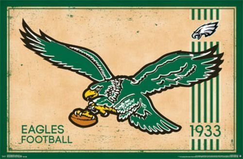 Philadelphia Eagles - Retro Logo 2014 NFL Art Print Poster by Trends International