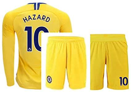 cheap for discount b3304 6c1be Amazon.com : ZZXYSY Hazard #10 Chelsea Men's Away Soccer ...