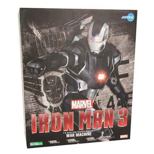 2756799afc IronMan Iron Man 3 Movie ARTFX Marvel War Machine Action Figure  (Black Silver)