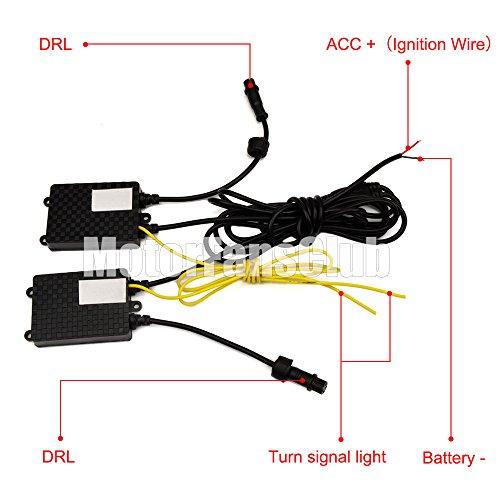 Amazon.com: MotorFansClub LED Daytime Running Light DRL Fog Lamp ...