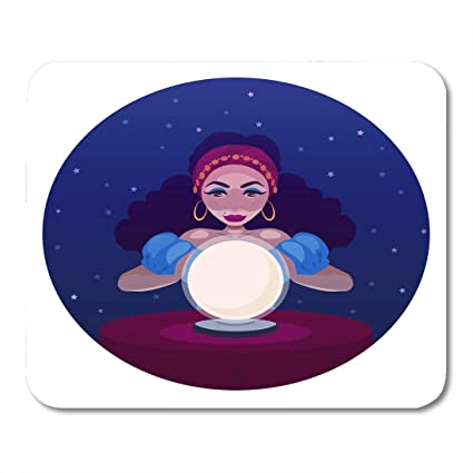 Amazon com : Boszina Mouse Pads Gypsy Fortune Teller with Crystal