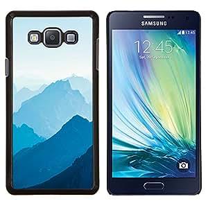 Blue Mountains- Metal de aluminio y de plástico duro Caja del teléfono - Negro - Samsung Galaxy A7 / SM-A700