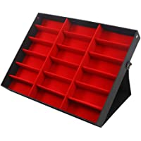 caowrs 18 Grids Eyewear Storage Box Large Sunglass Display Case Perfect for Eyeglasses Spectacles