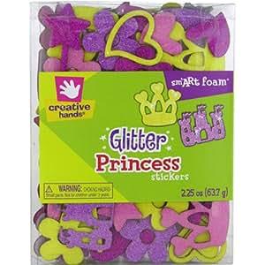 Fibre Craft Creative Hands - Pegatinas de goma eva con purpurina, diseño de princesas, multicolor