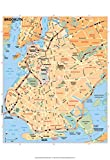 Michelin Official Brooklyn Map Art Print Poster 13 x 19in