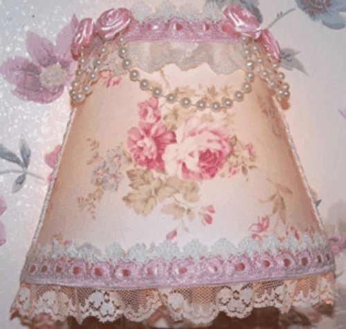 Cottage Chic Style Pink Roses and Lace Night Light