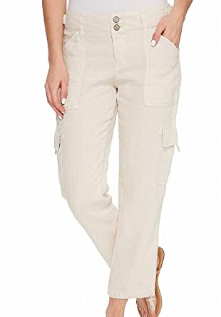 1da9a0c87743 Sanctuary Womens Terrain Linen Crop Pants at Amazon Women s Clothing ...
