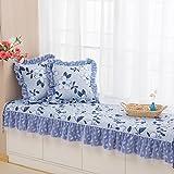 Retro Bay Window Cushion,Sill Pad Floating Window Pad Modern Window Bench Mat Sofa Mat Rug Blanket Non-slip Tatami Mats,Living Room Bedroom Balcony Mat Including Pillow
