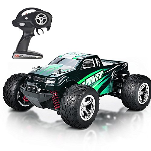 HomeXin RC Car 1:20 4WD High Speed Off Road Remote Control Car 45km/h 2.4GHz All Terrain Radio Controlled Racing Monster Truck 1500mAh Lithium Battery (green)