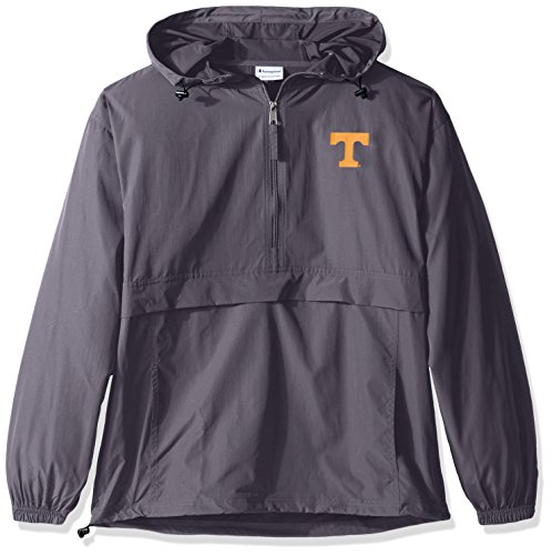(Champion NCAA Men's Half Zip Front Pocket Packable Jacket Tennessee Volunteers X-Large)