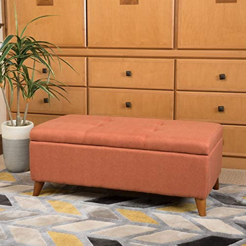 Christopher Knight Home Harper Fabric Storage Ottoman
