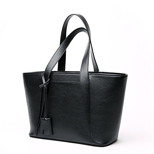 Lady Crossbody Ziper Black Gray Handbag Shoulder Xuanbao Closure Bag Messeger Office Tote color Leather fSwYnqCCAd