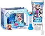 Disney Frozen ''Elsa'' Inspired 5pc Sparkling Smile Gift Set! Includes Toothbrush Holder, Toothbrush, Toothpaste, Brushing Timer & Rinse Cup! Plus Bonus Tooth Saver Necklace!