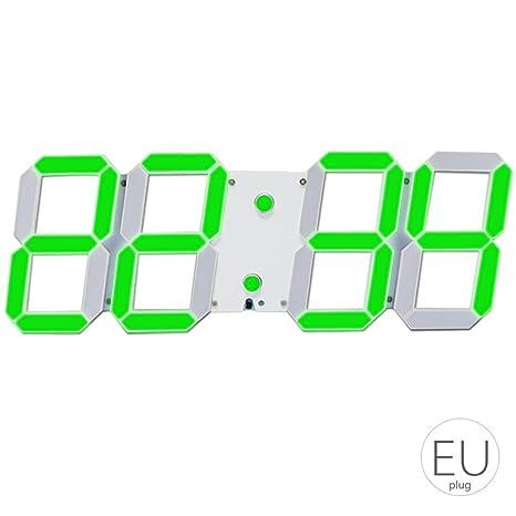 LED Skeleton Paredes Huecas de Despertador Multi de – Temporizador multifunción 24/12 Horas de