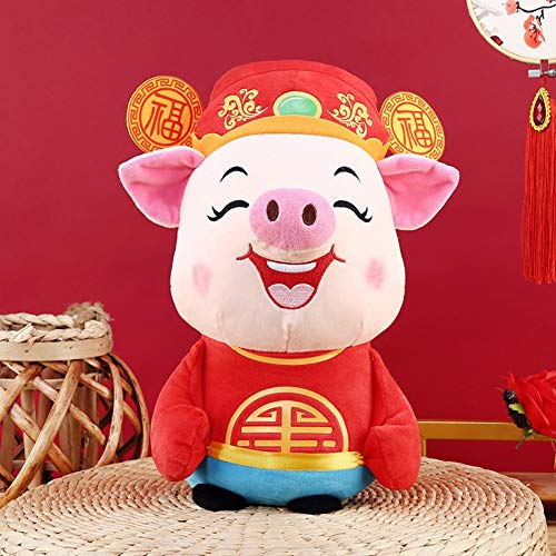 ARTIFUN Plush Pig Mascot - 2019 Chinese New Year Zodiac Animal Mascot Tang Suit Soft Toys for Kids & Women Party Gift