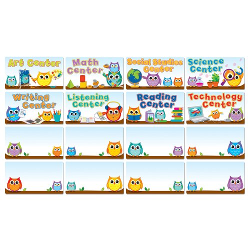 Colorful Owls Center Signs Mini Bulletin Board ()