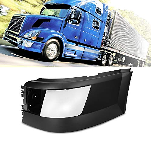Side Bumper Left Driver Side With Trim With Fog Light Hole Black Fit Volvo VNL 04-15