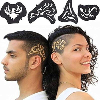 Plantilla de pelo para tatuaje, 25 piezas/set de recortador de ...