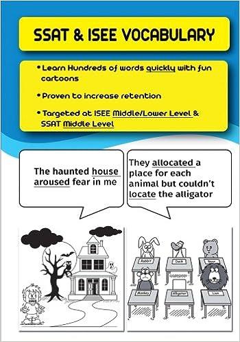 Amazon SSAT ISEE Vocabulary 9781544859187 J Stone Books