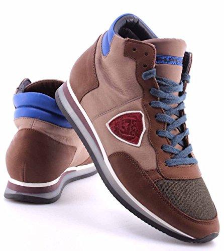 Zapatos Sneakers Hombre PHILIPPE MODEL Paris Tropez World Brown Cartier Italy