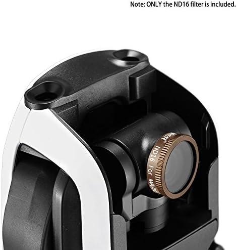 Neewer Jeu de 6 Filtre d'Objectif pour DJI Mavic Air Drone Quadcopter: ND4, ND8, ND16, ND4/PL, ND8/PL, ND16/PL, Verre Optique Multi-Enduit et Cadre en Alliage Aluminium Imperméalbe (Or)