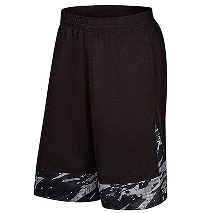 Yiqi Pantalones Cortos de Baloncesto con Bolsillos, Hombre Bermuda