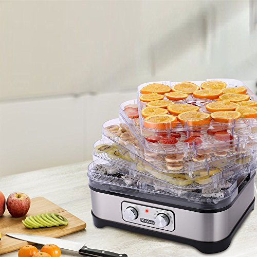 Food Dehydrator Machine, Jerky Dehydrators with Five Tray, Knob Button by SuperPostman (Image #5)