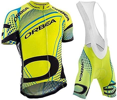 Wulibike Conjunto Ciclismo Verano Traje Bicicleta Hombre Maillot Btt Corta+Culotes 3D Gel Equipos