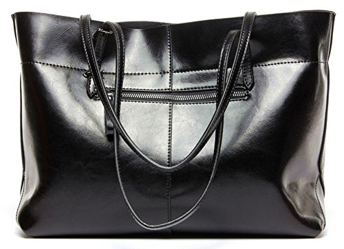 Purse Molodo Satchel Shoulder Leather Handle Handbag Top Tote Hobo Genuine Stylish Black1 Womens rPRxp5Awqr