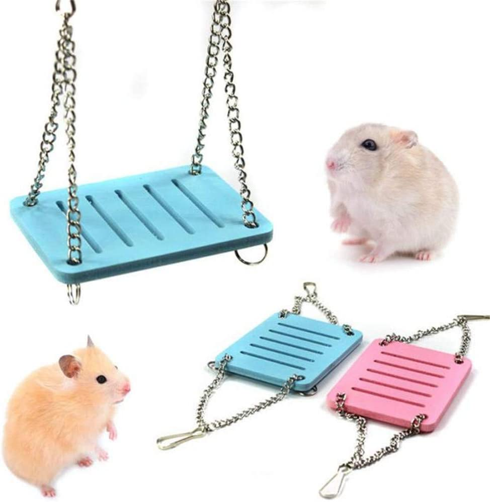 3 Pieces Plastic Swing Toy FSYEEL Hanging Cage Colorful Pets Platform Stand for Animals Hamster and Mouse