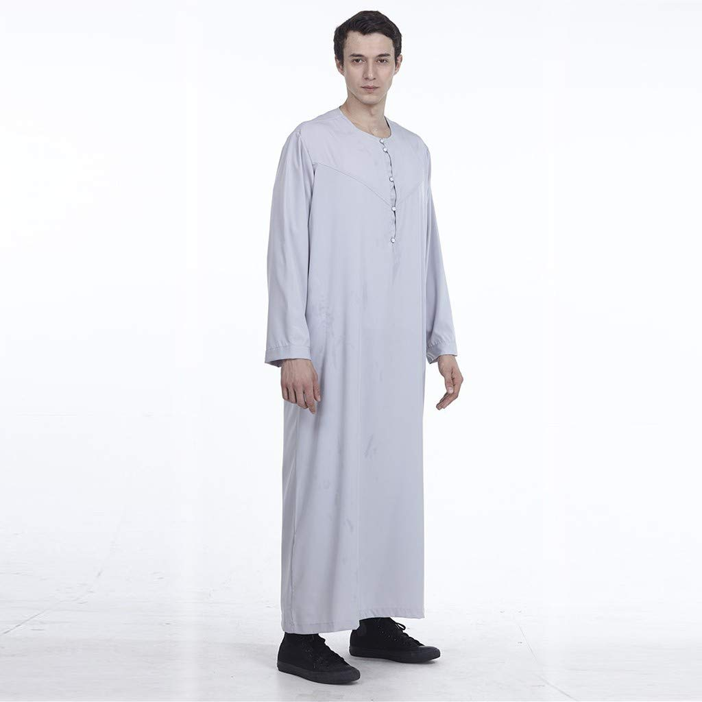 NPRADLA Large Falda Musulmana Ropa para Hombre Arabia Saudita ...